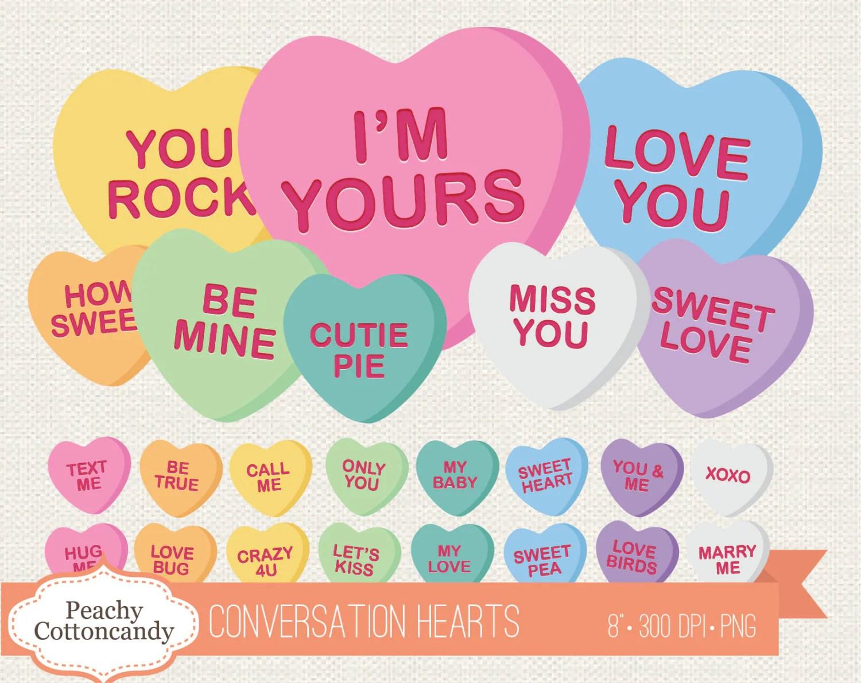 Buy 2 Get 1 Free Conversation Heart Clip Art Conversation