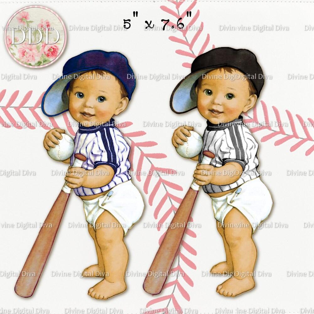 Lil Slugger Baseball Vintage Baby Boy 6 Outfit Colors Light