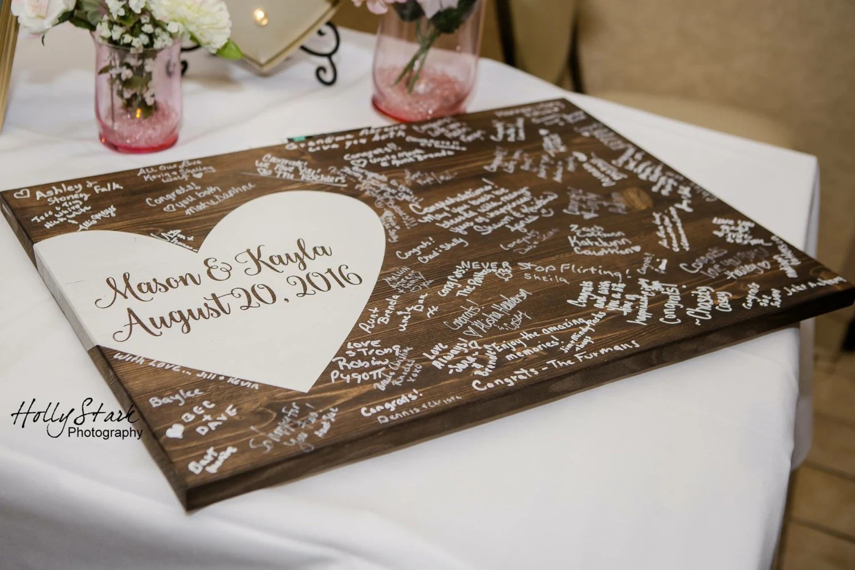 Alternative wedding guest book wood guest book wedding