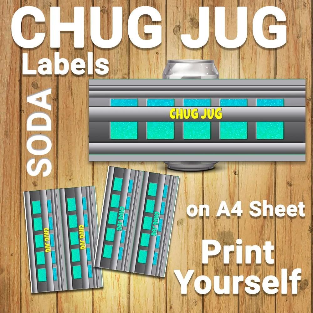 photograph regarding Chug Jug Printable named Gatorade Fortnite Etsy