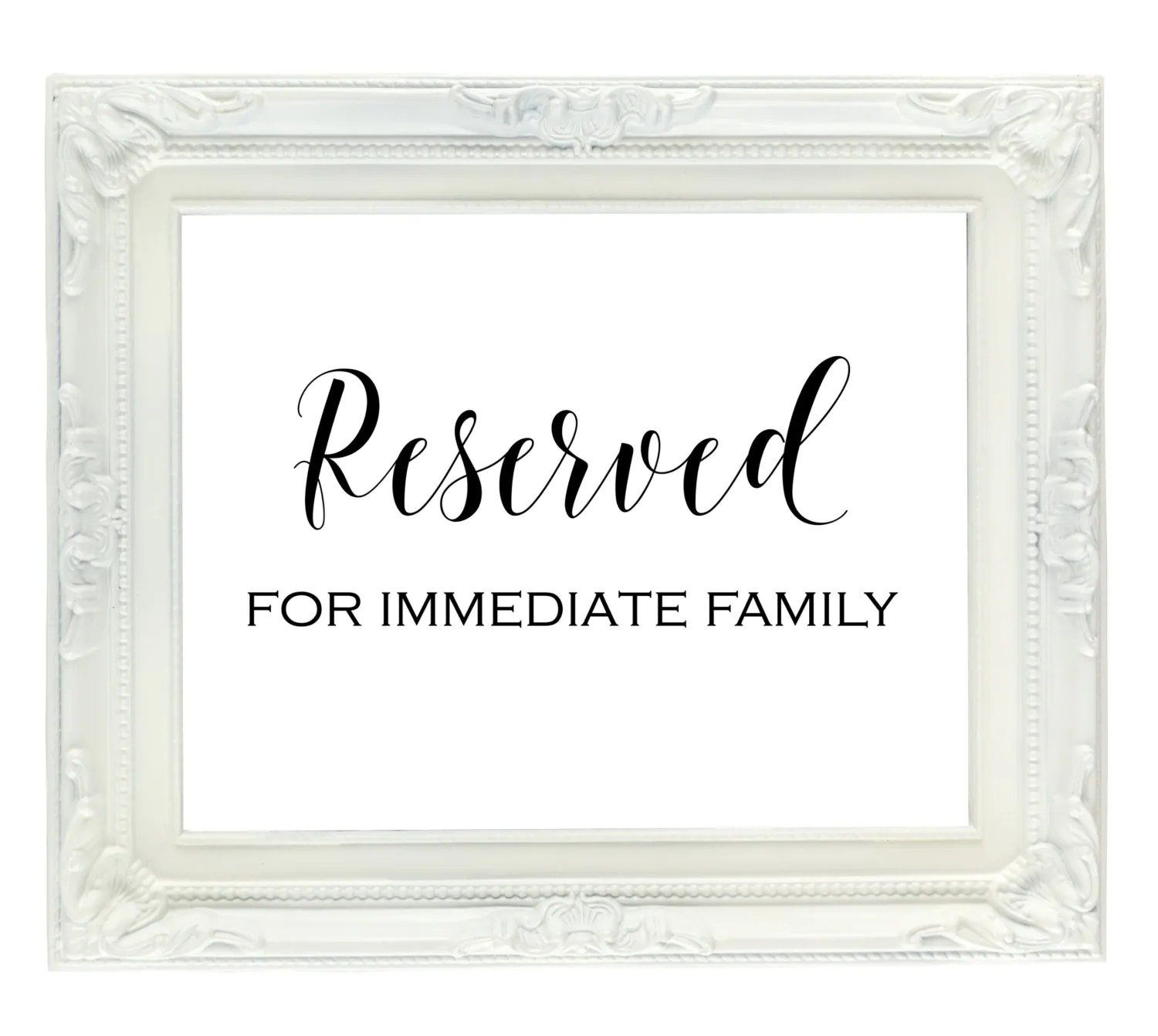 reserved signs for chairs template adec dental chair family sign seating wedding