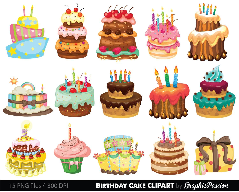 birthday cake clipart. illustration