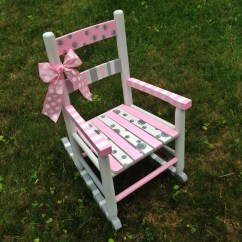 Little Rocking Chairs For Toddlers Purple And White Chair Hand Painted Nursery Decor Children 39s