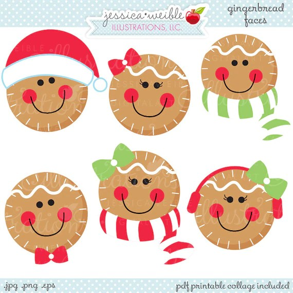 gingerbread faces cute christmas