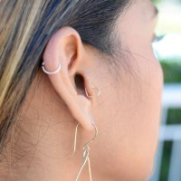 Heart Tragus Earring Cartilage Jewelry Sterling Silver 14k