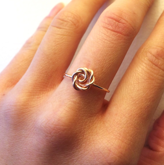 Rose Ring Rose Gold 14K Gold Filled Sterling Silver Wire