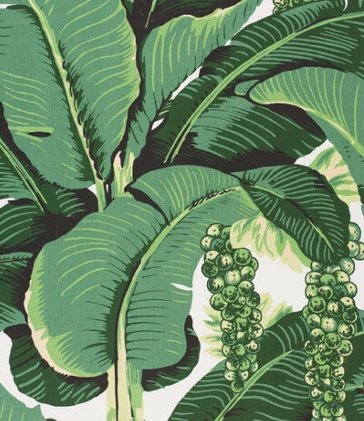 Banana Leaf Print Fabric