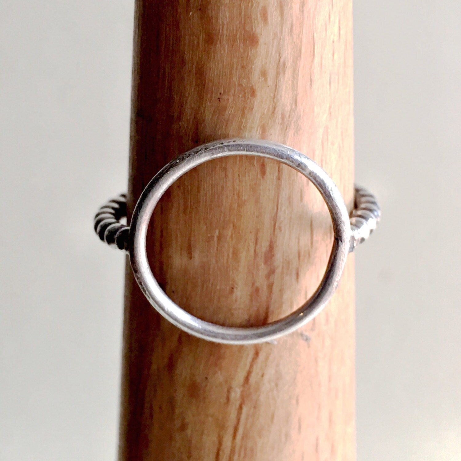 Open Circle Ring Karma Sterling Silver