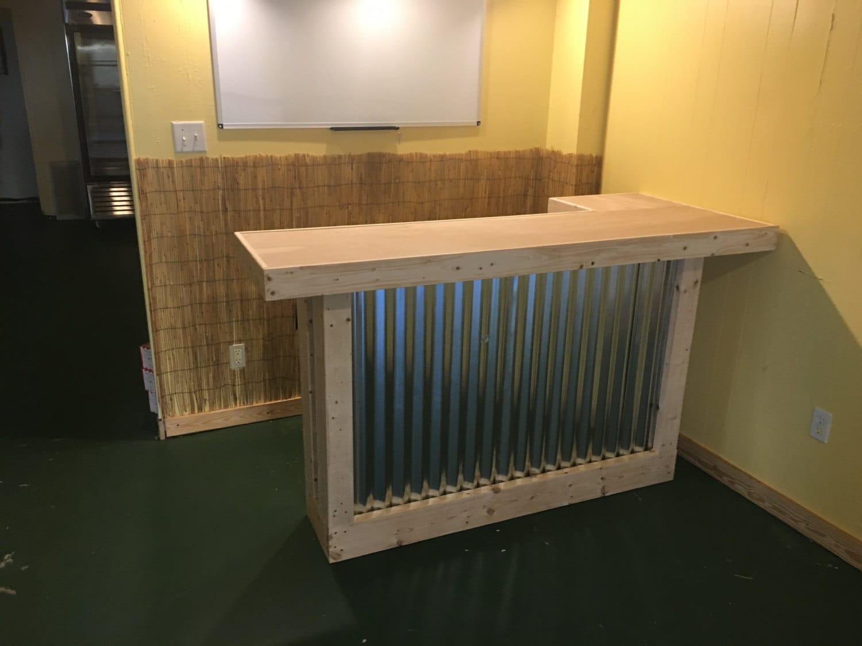 Mini - 6' Rustic Corrugated Metal L Shaped Dry