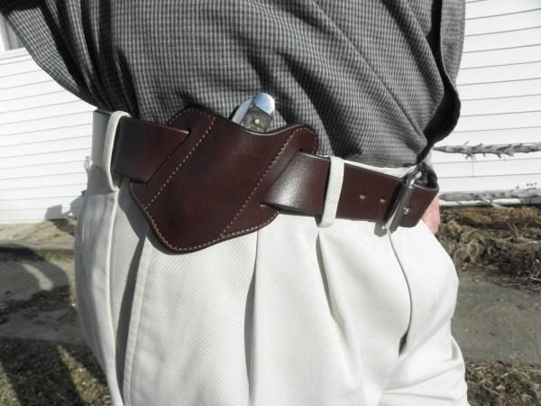 Leather Pocket Knife Holder 100 Full Grain Belt