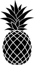 pineapple silhouette svg clipart ananas clip vector cricut outline drawing stencil cool dessin pine apple laser vinyl cut monogram digital