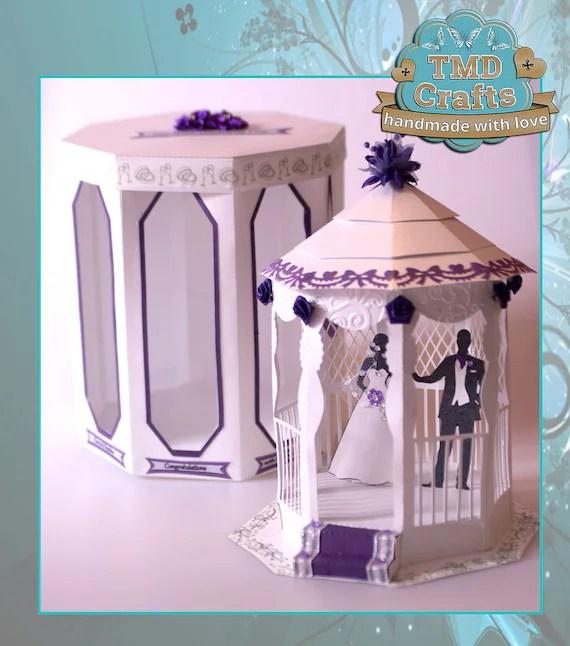 3d Card Wedding Gazebo & Box