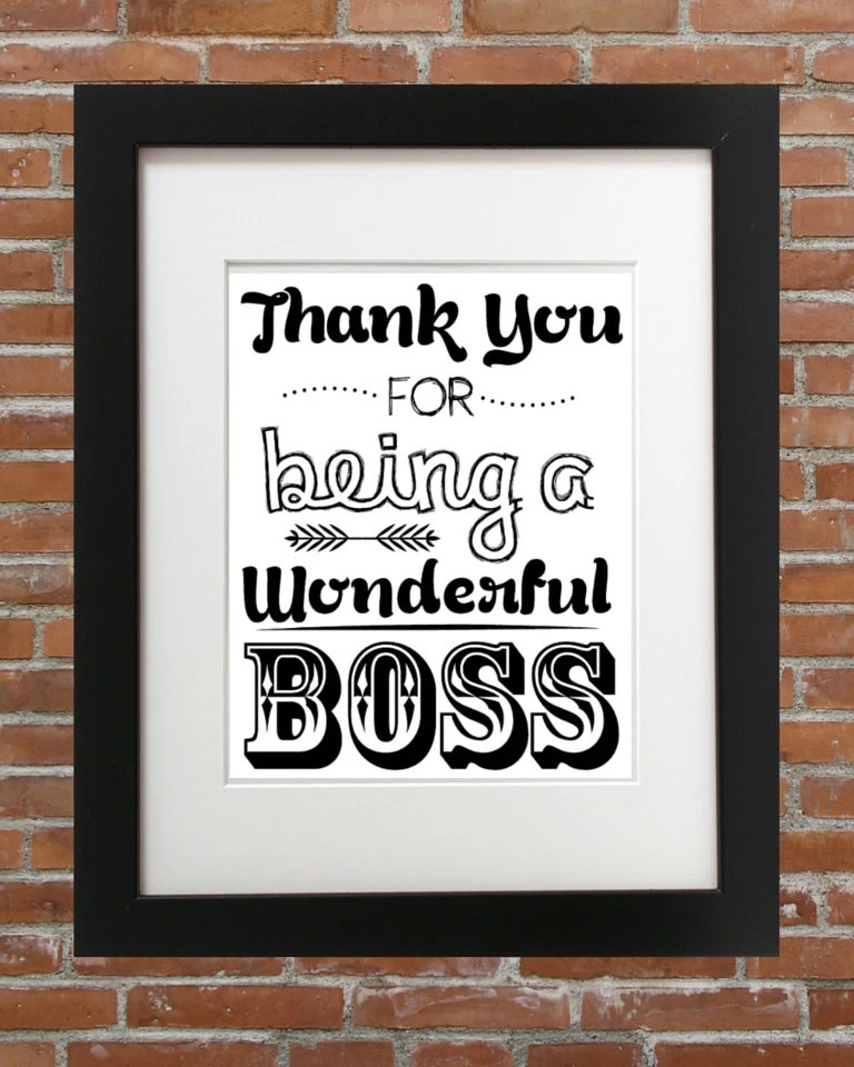 Thank You For Being A Wonderful Boss For Your Boss Gifts