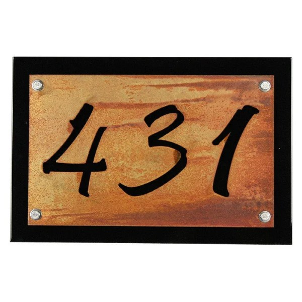 Metal House Number Address Plaques