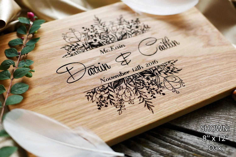 Personalized Cutting Board Wedding Gift Custom Wedding Gift