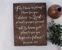 Jeremiah 29 11 Wall Art For I know the plans Jeremiah 29:11