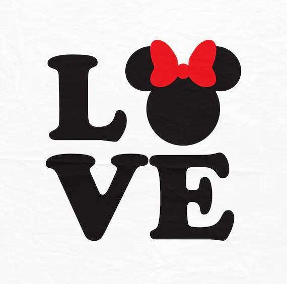 Download Love Minnie SVG Love svg Minnie svg Minnie mouse love