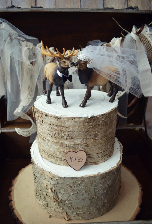 ElkElk hunterwedding cake topperhunting