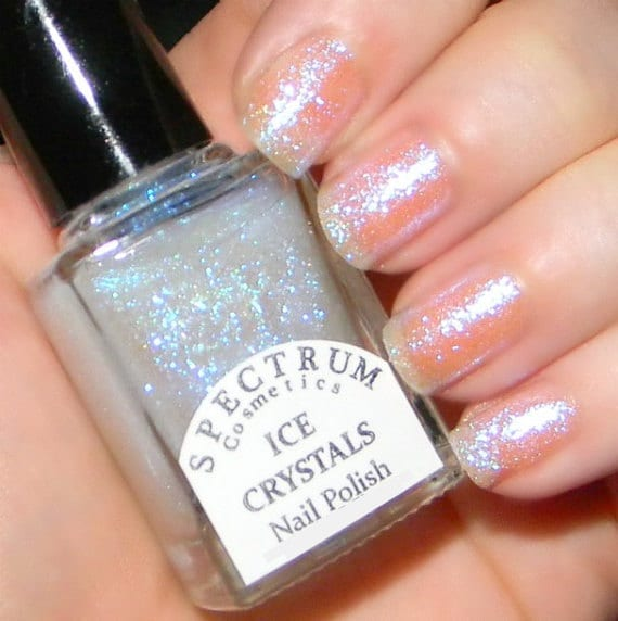 ice crystals glittery top coat