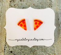 Pizza Stud Earrings Pizza Studs Pizza Lover Pizza
