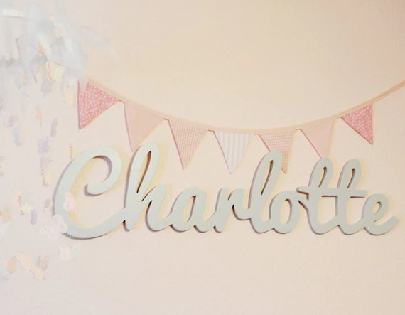 Wooden Name Sign Wooden Names Letters For Nursery Nursery