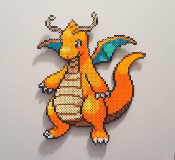 Pokemon Dragonite Perler Beads Pixel Art Pokemon Art Hama