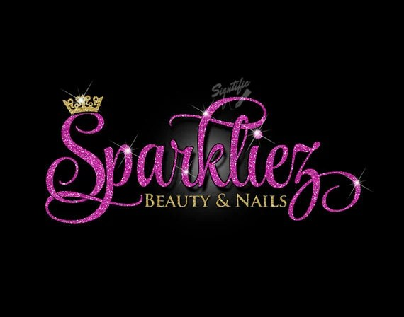 glitter bling beauty salon logo
