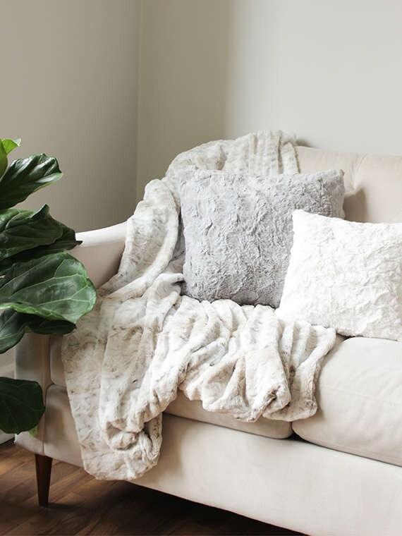 Faux Fur Throw Blanket Sofa Throw Decorative Blanket