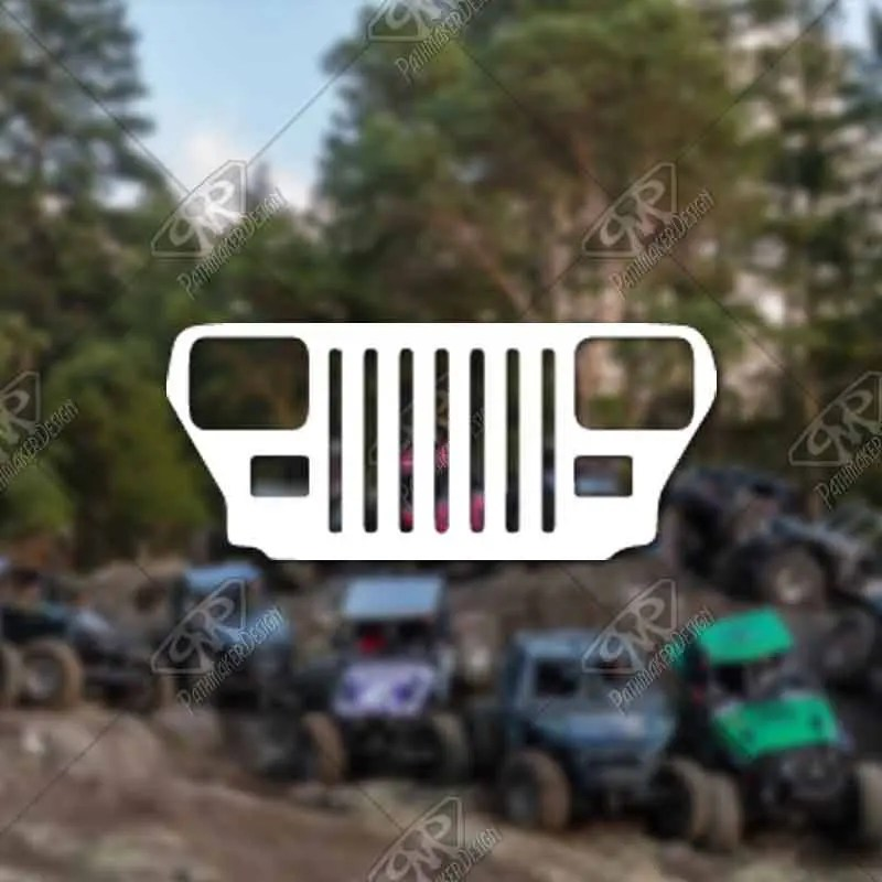DECAL - [Jeep YJ Grill] -...