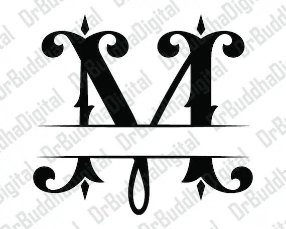 Download Split Monogram Font SVG Collection Split Monogram Alphabet