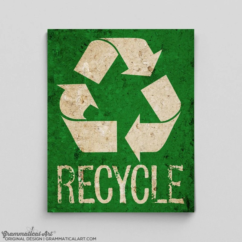 Recycle Print Poster Environmental Sign Science Teacher