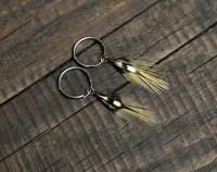 Extra large black hoop earrings for men black stainless steel