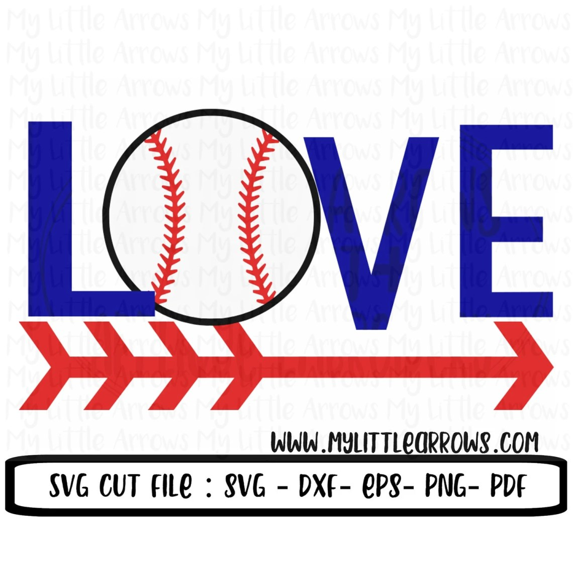 Download Love baseball SVG DXF EPS png Files for Cutting Machines