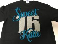 SWEET 16 SHIRT. Sweet Sixteen Shirt. Sweet 16 Tshirt. Birthday