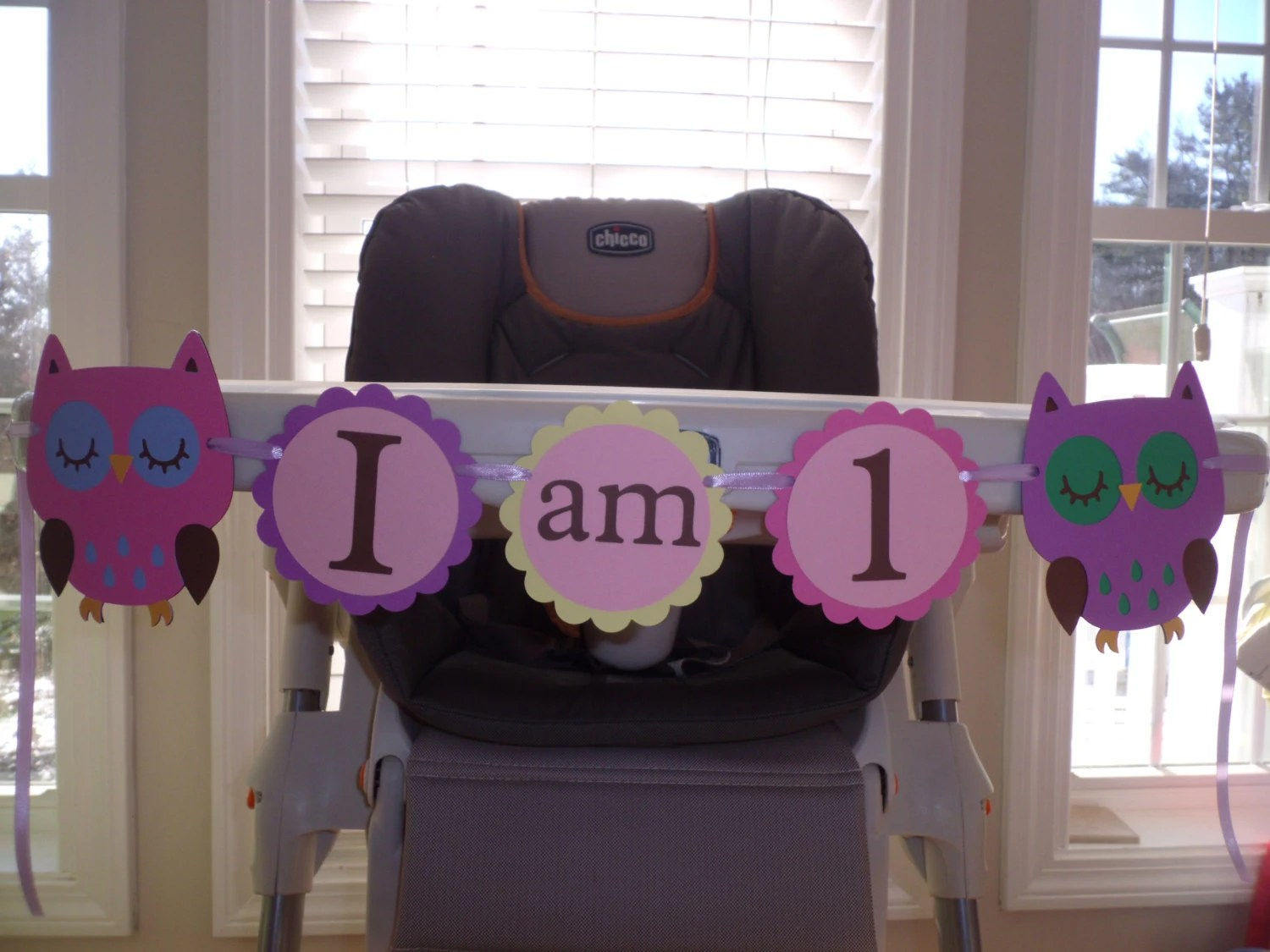 Owl High Chair Girl Owl High Chair Banner I Am 1 Hayley Wise Owl