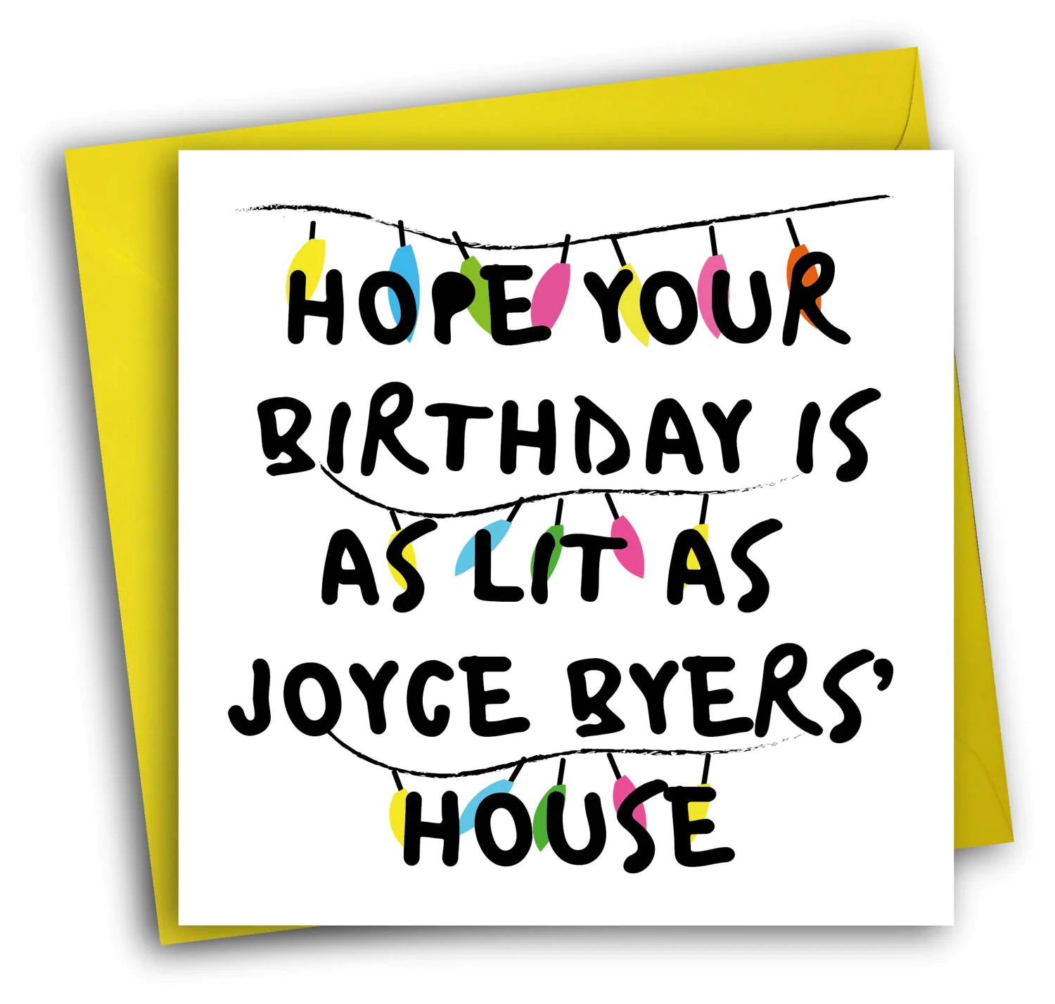 Stranger Things CardFunny Birthday CardJoyce Byers