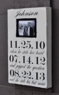 Photo Frame Custom Wedding Sign Personalized Engagement
