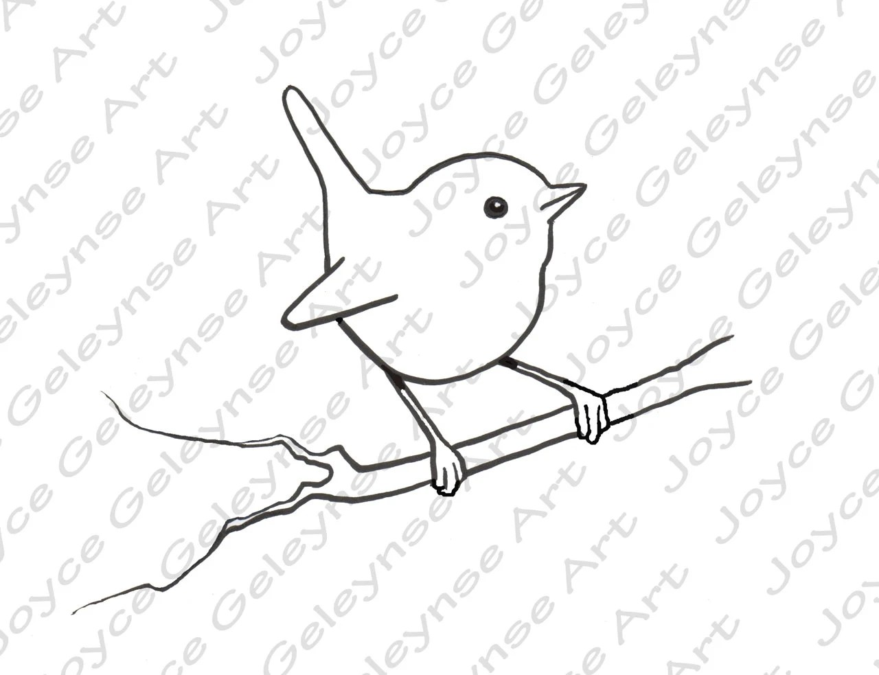 Digital Stamp: Clip Art Little Bird Wren Commercial Use