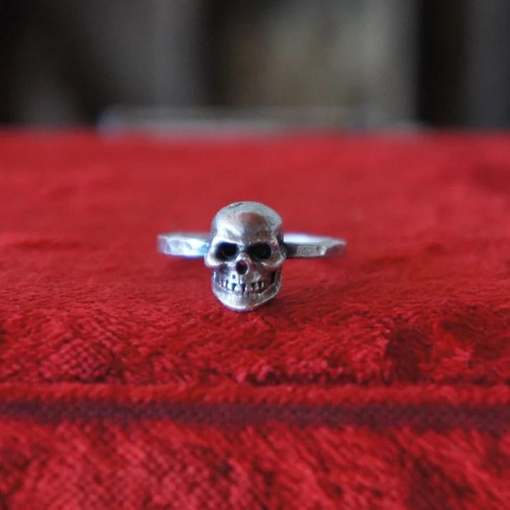 Solid Silver Antique Skul...