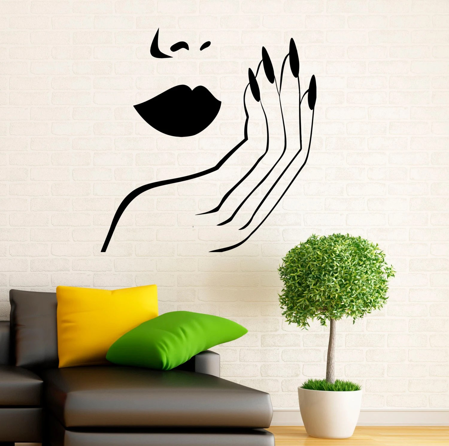 manicure wall decal vinyl stickers