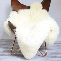 Sheepskin Rug On Chair Cheap Kids Chairs Sale Double White Shaggy