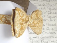 Self tie bow tie, gold paisley bow tie, bow ties for men ...