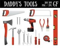 Papas Werkzeuge Clip Art Rot Farbe Werkzeug digitale Grafik