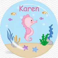 Seahorse Plate, Bowl, Cup, Placemat