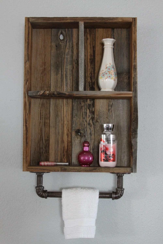 Reclaimed Wood Shelves Medicine Cabinet Wood Shelves