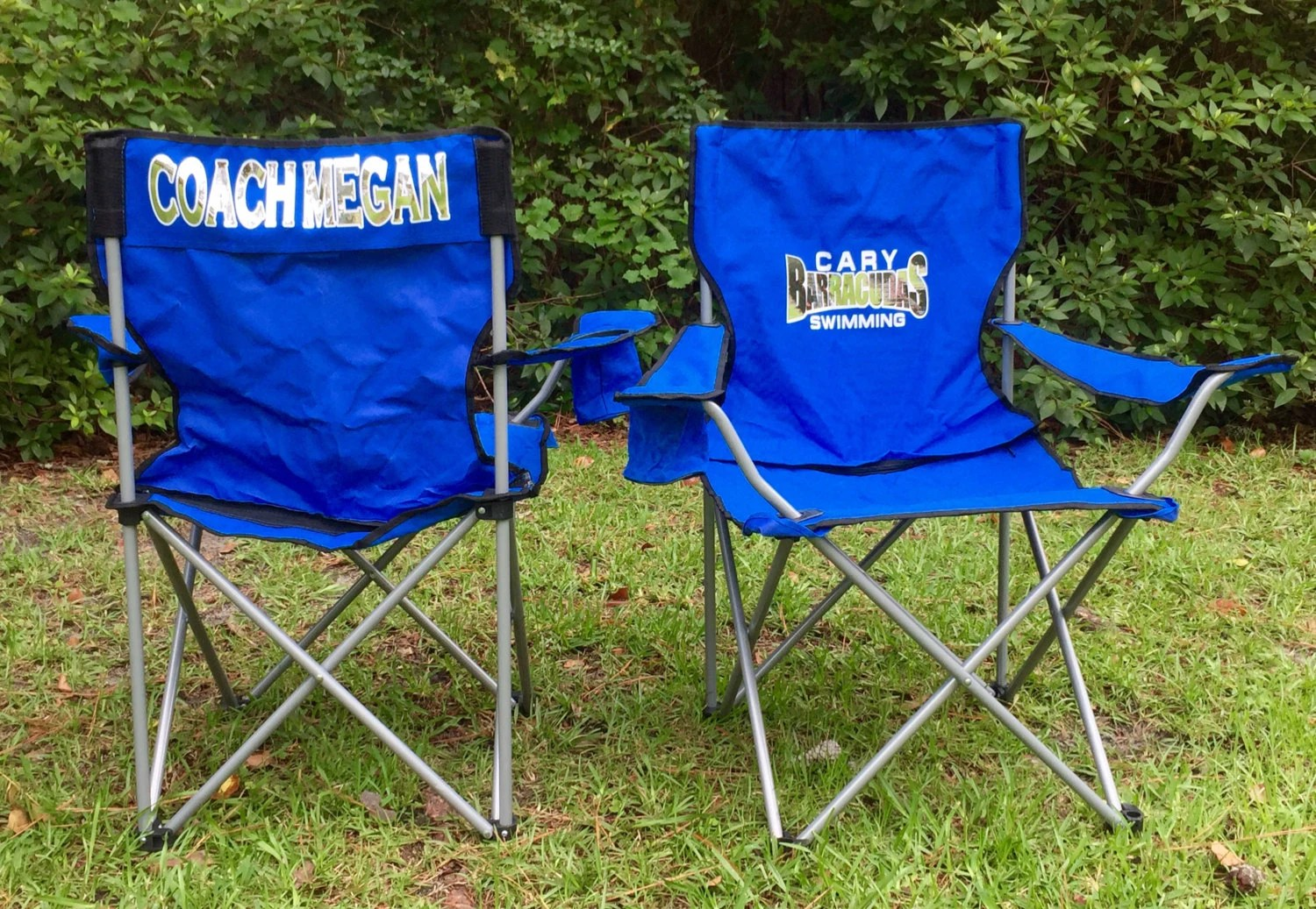 soccer mom covered chairs xmas dining room chair covers monogrammed personalized coach 39s camp