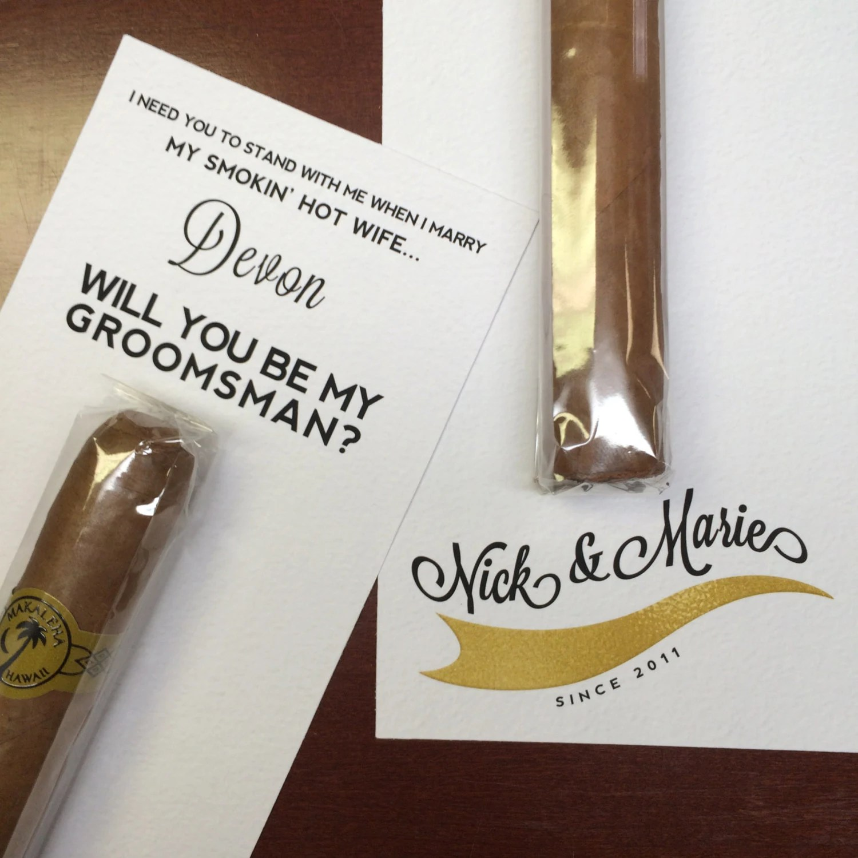 Will You Be My Groomsman Cigar Label  Custom Cigar Groomsmen