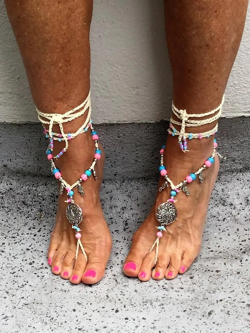 Barefoot Sandals Foot Jewelry Hippie Anklet Boho