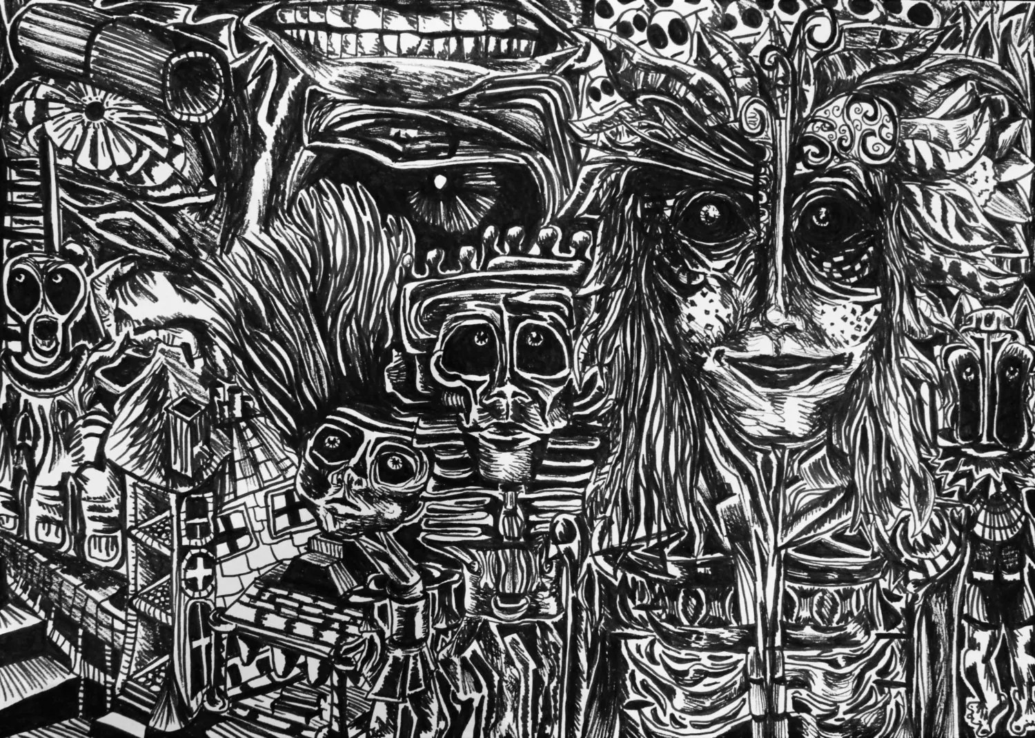 Trippy Surreal Art Drawings Black and White