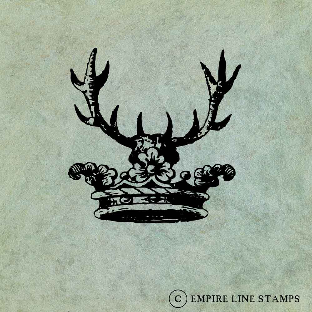 Crown with Antlers - Anti...